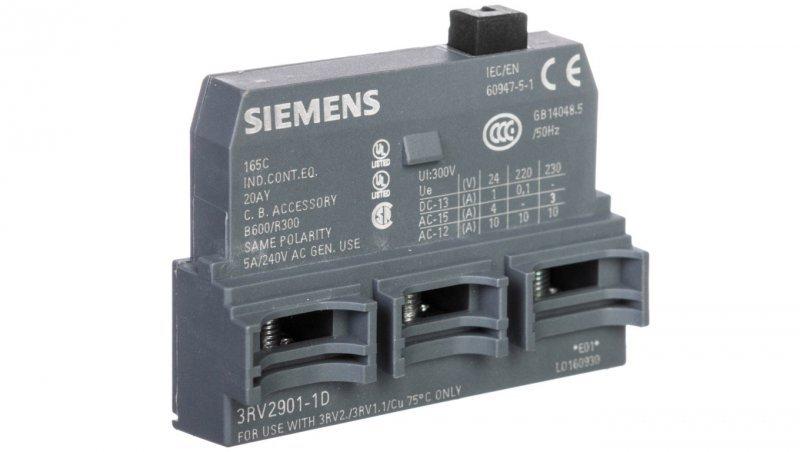 Styk pomocniczy 1P montaż czołowy S00/0 3RV2901-1D