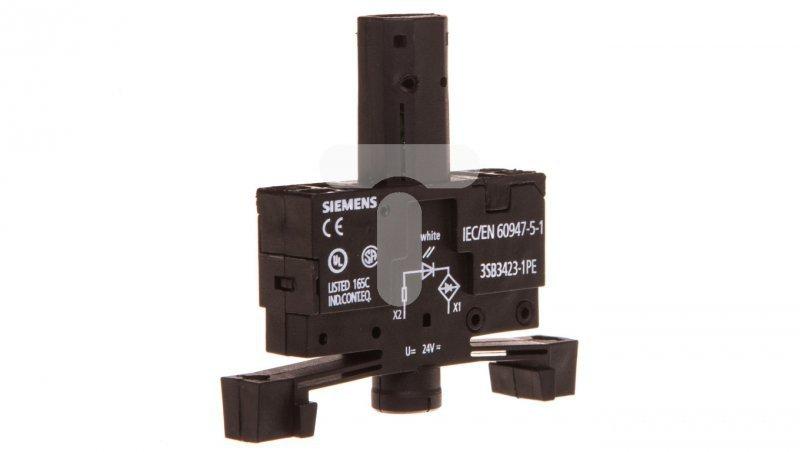 Oprawka z LED biała 24V AC/DC montaż 22mm zacisk sprężynowy 3SB3423-1PE