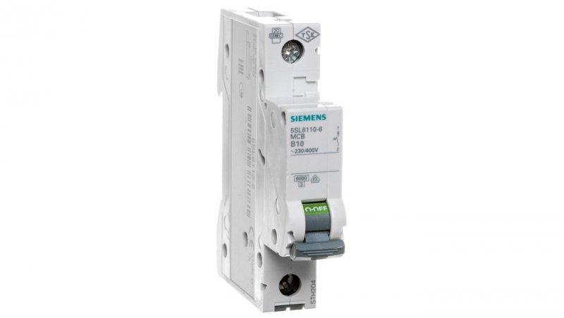 Wyłącznik nadprądowy 1P B 10A 6kA AC 5SL6110-6