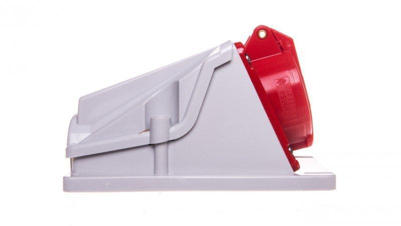Gniazdo stałe 5P 16A 400V czerwone IP44 90° 6H IEC 309 HP GW62482