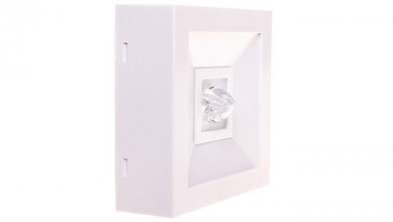 Oprawa awaryjna LED 3W 1h LOVATO N ECO LED 3W (opt. koryt.) jednozadaniowa biała LVNC/3W/E/1/SE/X/WH