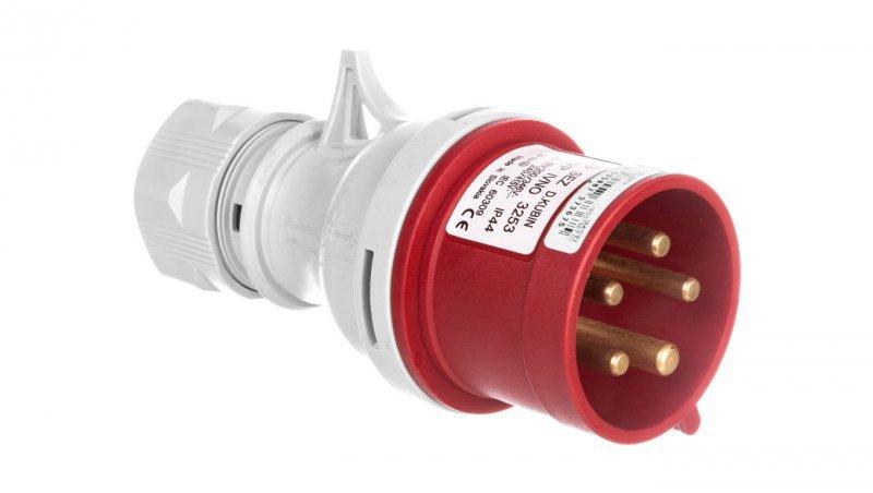 Wtyczka przenośna ze zmianą faz 5P 32A 400V czerwona IP44 IVNO 3253