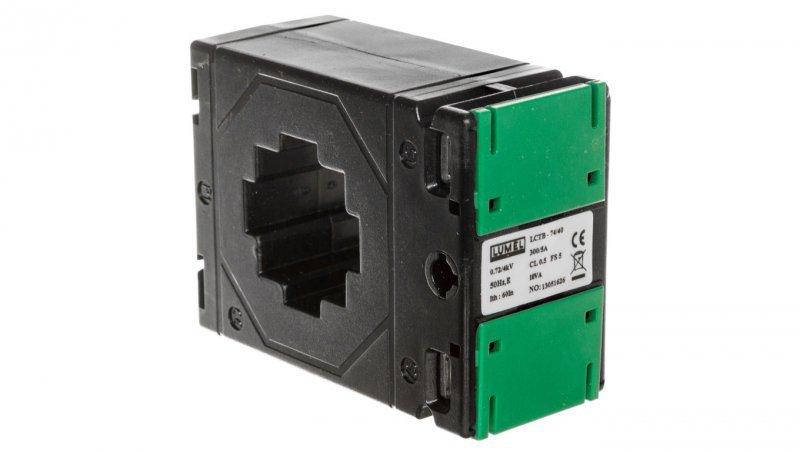 Przekładnik prądowy z otworem na szynę 74/40 (45) 300A/5A klasa 0,5     LCTB 7440450300A55