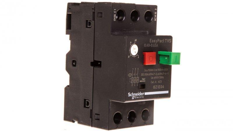 Wyłącznik silnikowy 3P 0,18kW 0,4-0,63A GZ1E04
