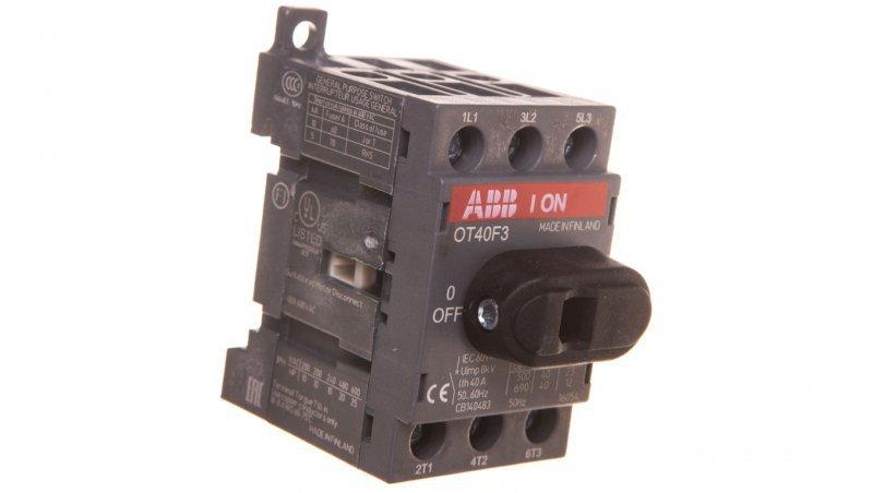 Rozłącznik izolacyjny 3P 40A z napędem bezpośrednim OT40F3 1SCA104902R1001