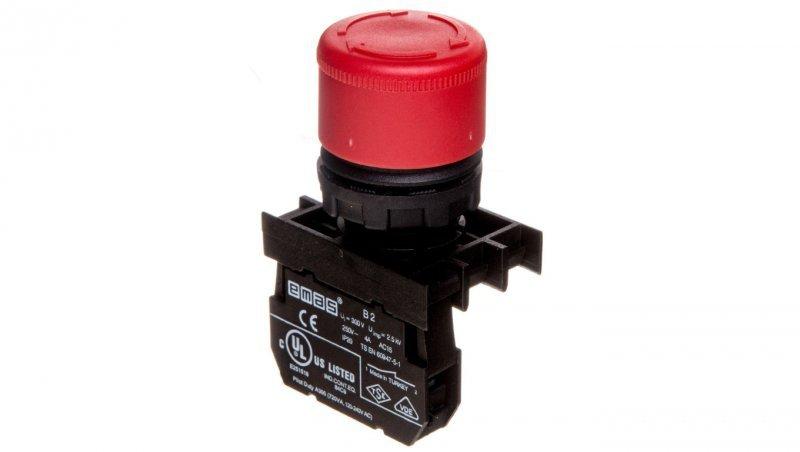 Przycisk bezpieczeństwa 0Z 1R 30 mm czerwony przez obrót T0-B200E30