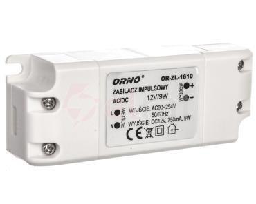 Zasilacz LED 12V DC 9W 0,75A IP20 OR-ZL-1610
