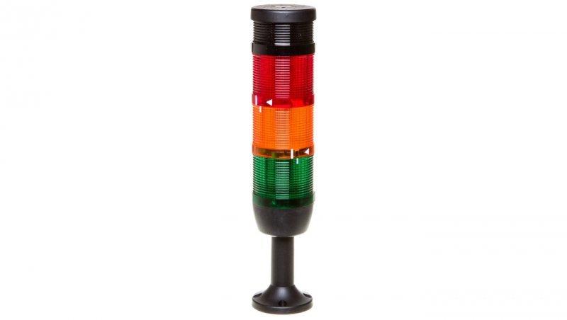 Kolumna sygnalizacyjna kompletna 70mm, 3 człony 24V DC czerwony błysk-żółty-zielony+buzzer TK-IK73F024ZM01