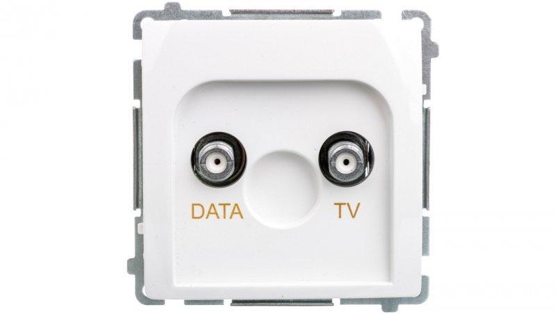 Simon Basic Gniazdo TV-DATA typ F 5-1000 MHz białe BMAD1.01/11