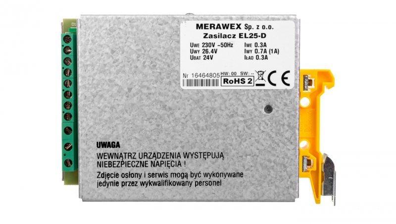Zasilacz buforowy na szyne DIN 1A 26,4V EL25-D