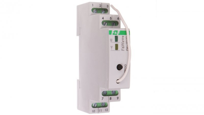 Radiowy dwukanałowy sterownik LED 12V - montaż DIN 10-16V DC FW-LED2D