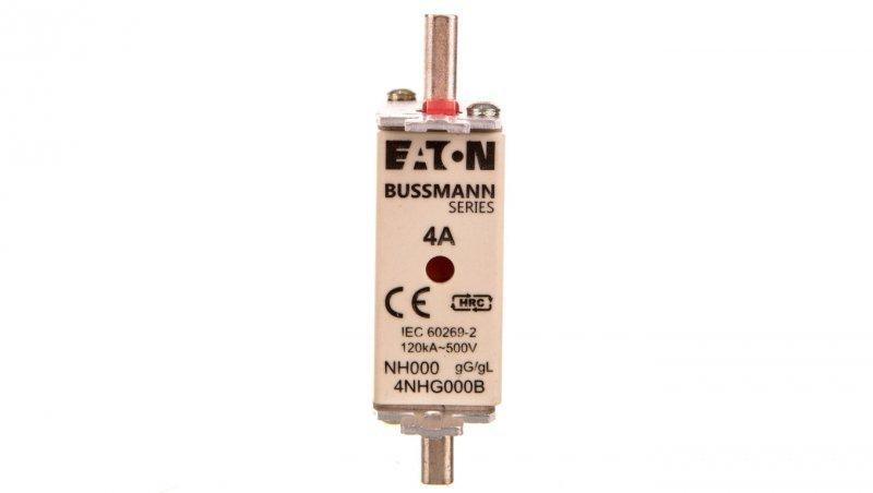 Wkładka bezpiecznikowa NH000 4A gL/gG 500V 4NHG000B