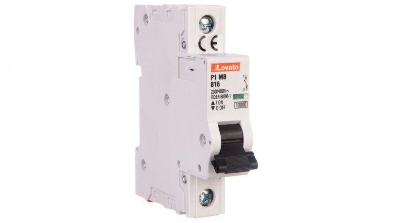 Wyłącznik nadprądowy 1P B 16A 10kA AC P1MB1PB16