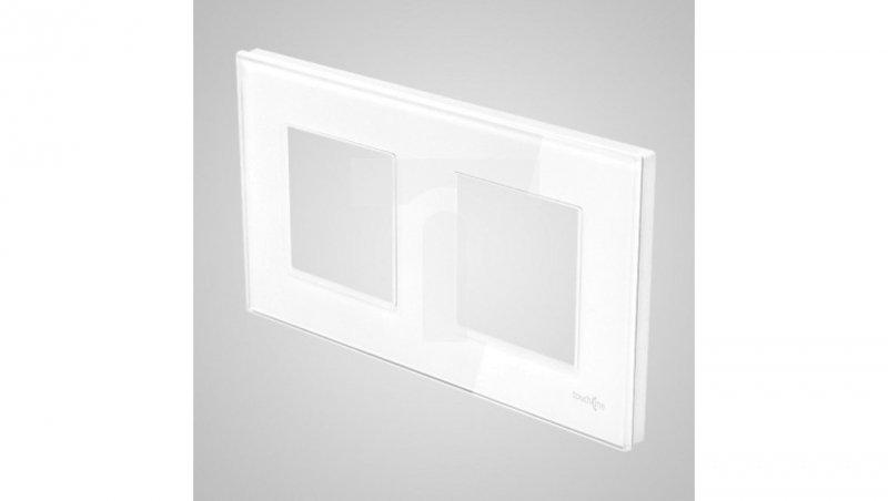 TouchMe Ramka podwójna szklana biała TM716W