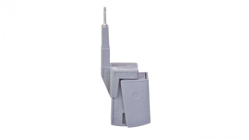 Adapter pomiarowy do beznarzędziowego montażu przewodów pomiarowych o przekrojach 0,08mm2 - 2,5mm2 szary 2009-182