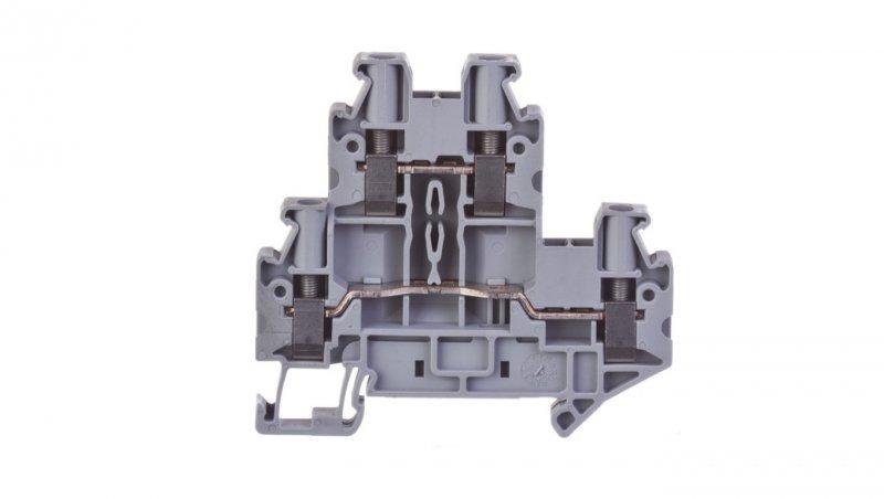 Złączka szynowa 2-piętrowa 6mm2 UTTB 4 szara 3044814