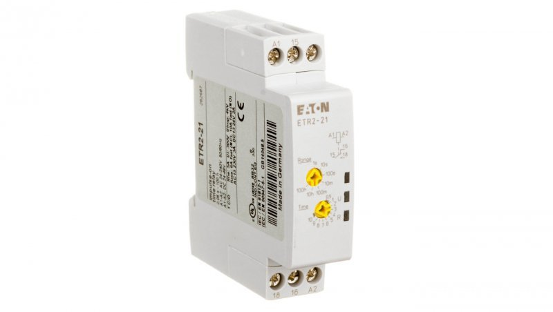Przekaźnik czasowy 2P 3A 0,05sek-100h 24-240V AC/DC załączanie impulsowe ETR2-21 262687