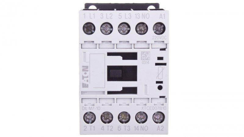 Stycznik mocy 7A 3P 220V DC 1Z 0R DILM7-10(220VDC) 276569