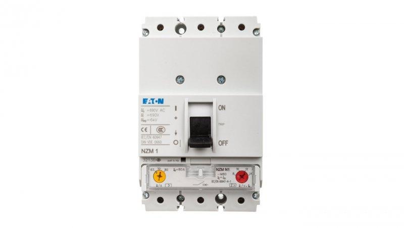 Wyłącznik silnikowy 3P 37kW 63-80A NZMN1-M80 265721