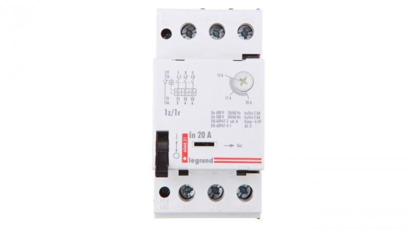 Wyłącznik silnikowy 3P 9kW 14-20A M 250 1R/1Z 20 606831