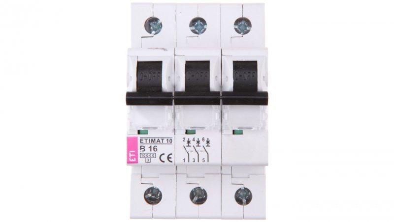 Wyłącznik nadprądowy 3P B 16A 10kA AC ETIMAT10 002125716