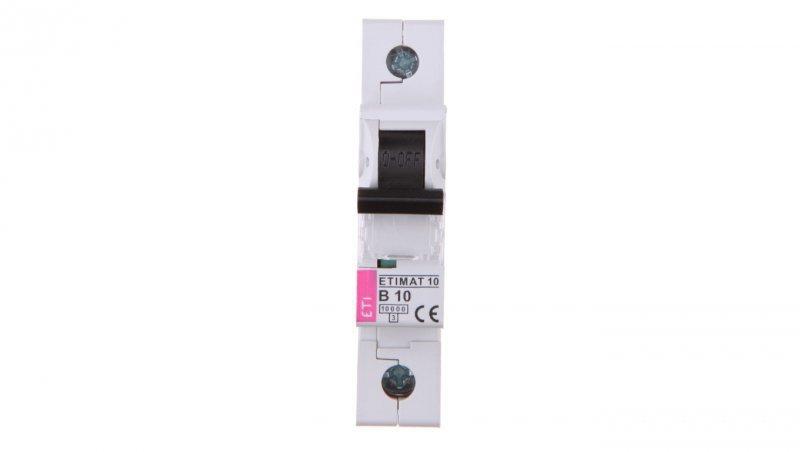 Wyłącznik nadprądowy 1P B 10A 10kA AC ETIMAT10 002121714