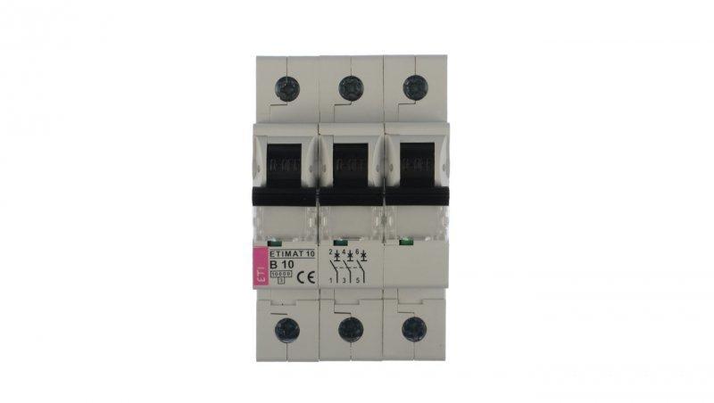 Wyłącznik nadprądowy 3P B 10A 10kA AC ETIMAT10 002125714