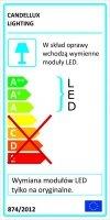 DUBLOS PLAFON 31X31 1X9W LED
