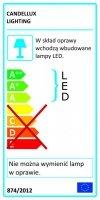 NEXIT PLAFON 22,5X22,5 12W LED IP44 SATYNA+BIAŁY 3000K