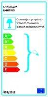 ASME PLAFON 1/2 1X60W E27 SREBRNY