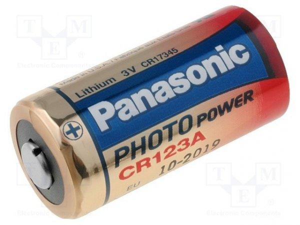 Bateria: litowa; 3V; CR123A,CR17345; Il.bat: 1; Ø17x34,2mm