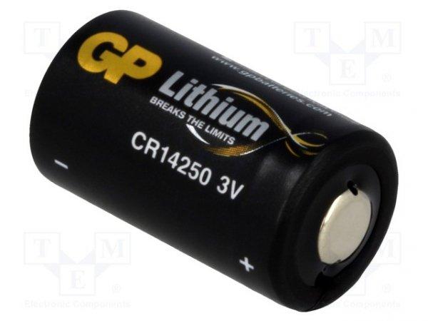 Bateria: litowa; 3V; 1/2AA; Ø14,3x25mm; 800mAh; nieładowalna