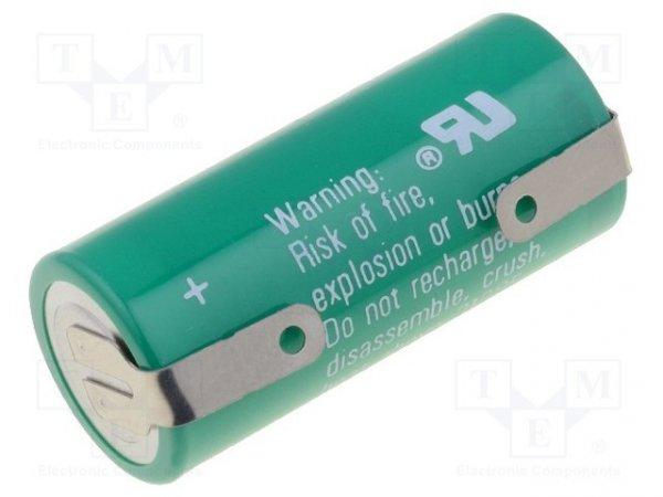 Bateria: litowa; 3V; 2/3AA,2/3R6; blaszki lutownicze; 1350mAh