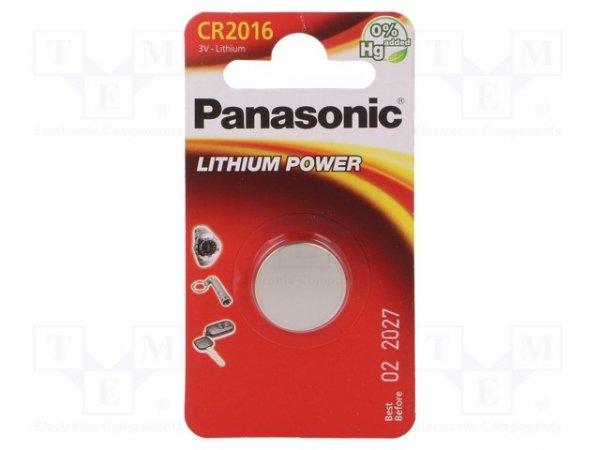 Bateria: litowa; 3V; CR2016,pastylkowa; Il.bat: 1; Ø20x1,6mm