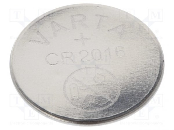 Bateria: litowa; 3V; CR2016,pastylkowa; Ø20x1,6mm; 86mAh