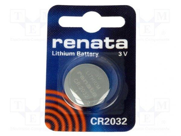 Bateria: litowa; 3V; CR2032,pastylkowa; Il.bat: 1; Ø20x3,2mm