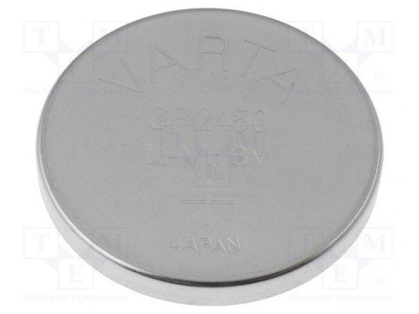 Bateria: litowa; 3V; CR2450,pastylkowa; Ø24,5x5mm; 560mAh