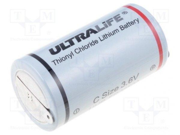 Bateria: litowa; 3,6V; C; blaszki lutownicze; Ø26,2x50mm; 6500mAh