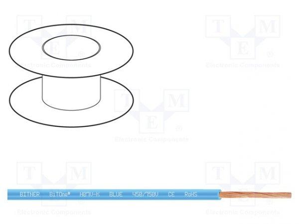 Przewód; BiTOne; linka; Cu; 16mm2; niebieski; PVC; 450/750V; 100m