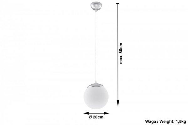 Lampa Wisząca UGO 20 CHROM