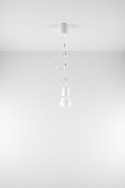 Lampa wisząca DIEGO 1 biała