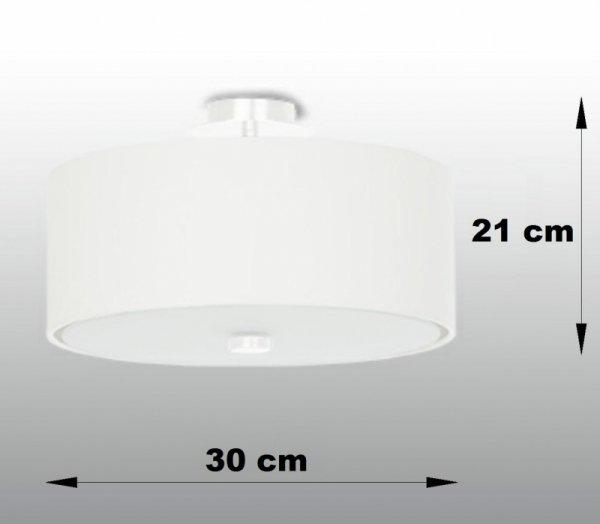 Plafon SKALA 30 biały