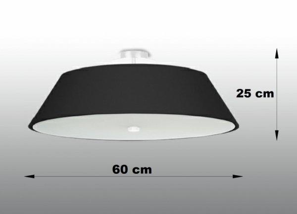 Plafon VEGA 60 czarny