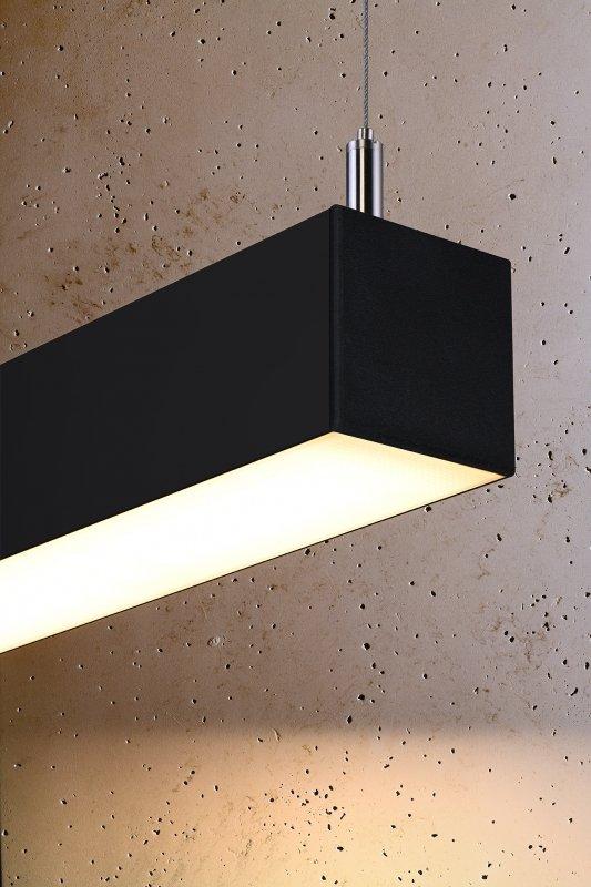 Lampa wisząca PINNE 150 czarna 3000K