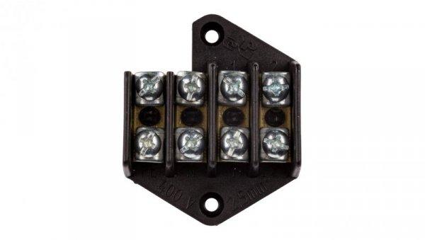 Pierścień rozgałęźny 4x2.5mm2 czarny0951-00