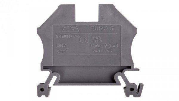 Złączka szynowa gwintowa ZSG ( ZUG ) 6,0mm2 szara mini 43407