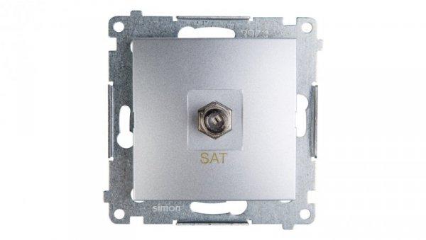 Simon 54 Gniazdo antenowe pojedyncze SAT srebrny mat DASF1.01/43