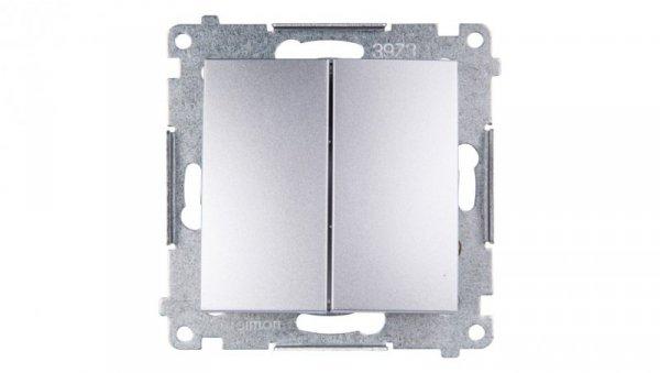 Simon 54 Łącznik bryzgoszczelny świecznikowy IP44 srebrny mat DW5B.01/43