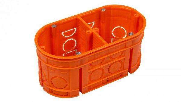 Puszka podtynkowa podwójna 60mm pomarańczowa M2x60F 33160008