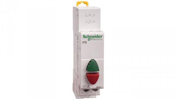 Przycisk modułowy 20A 1Z 1R zielony/czerwony iBP A9E18034